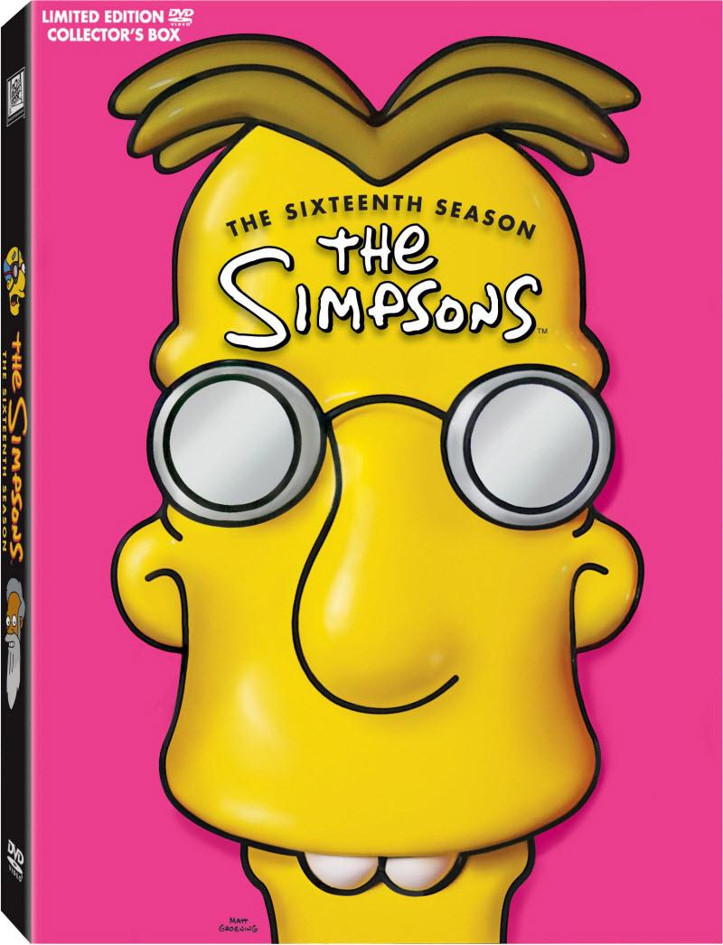 Professor Frink 3D head on The Simpsons Season 16 DVD