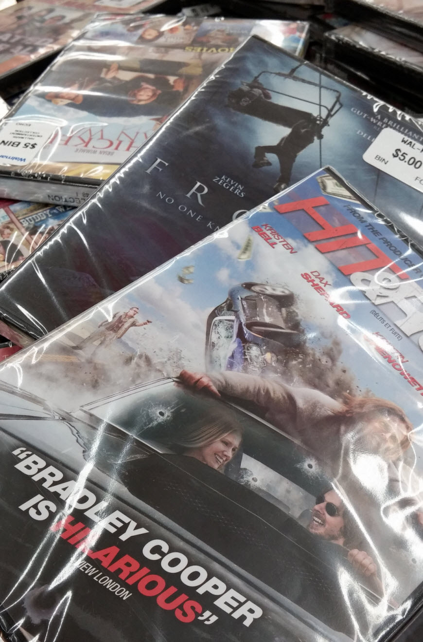 A ton of DVDs for only $5 each - some great titles in there too! #shop