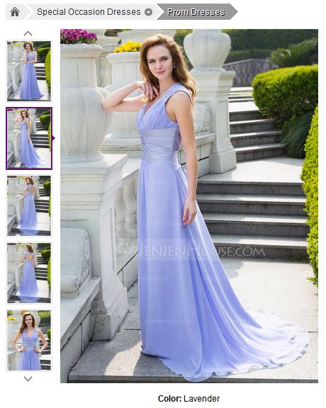 A-Line/Princess V-neck Sweep Train Chiffon Charmeuse Prom Dress With Ruffle Beading #018024646
