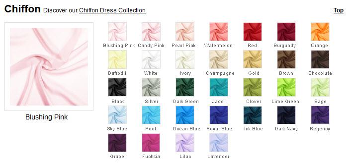 Choose Your Dress Colour on JenJenHouse.com