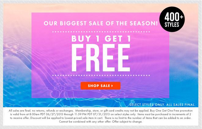 JustFab.ca Buy 1 Get 1 Free deal