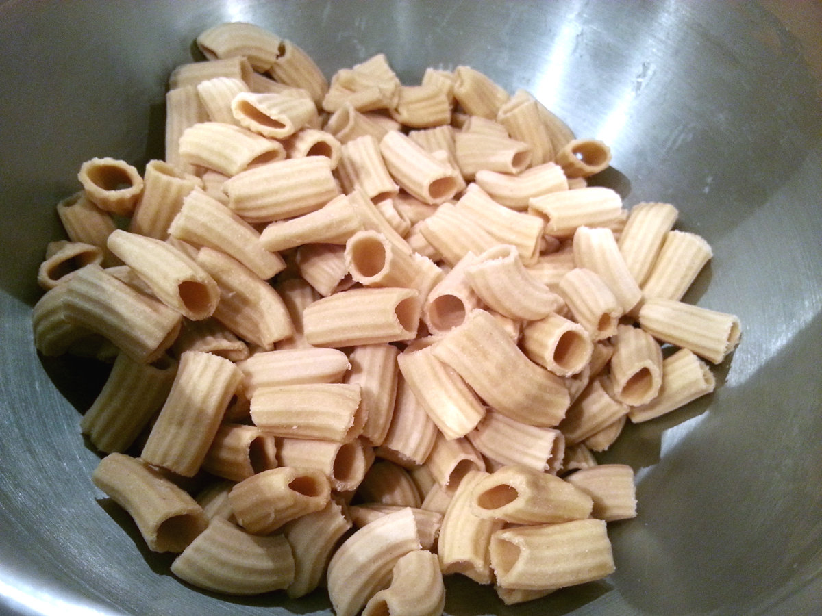 Rigatoni Made from KitchenAid Pasta Press
