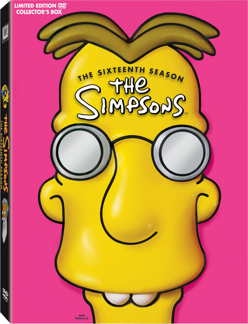 Professor Frink 3D head on The Simpsons Season 16 DVD
