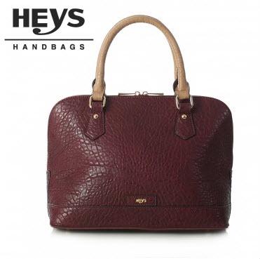 Heys Nottingham Handbag: Satchel in Bordeaux