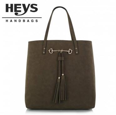 Heys Nottingham Handbag: North/South Tasseled Tote