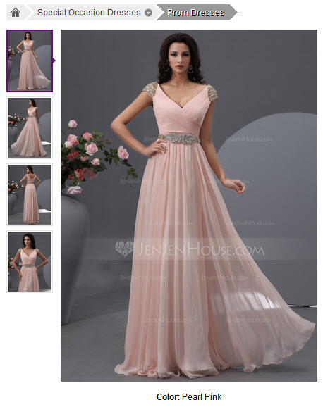 A-Line/Princess V-neck Floor-Length Chiffon Prom Dress With Ruffle Beading Sequins