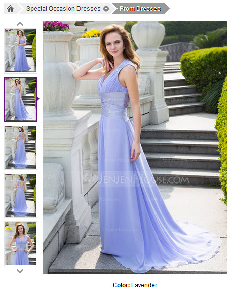 A-Line/Princess V-neck Sweep Train Chiffon Charmeuse Prom Dress With Ruffle Beading #018024646