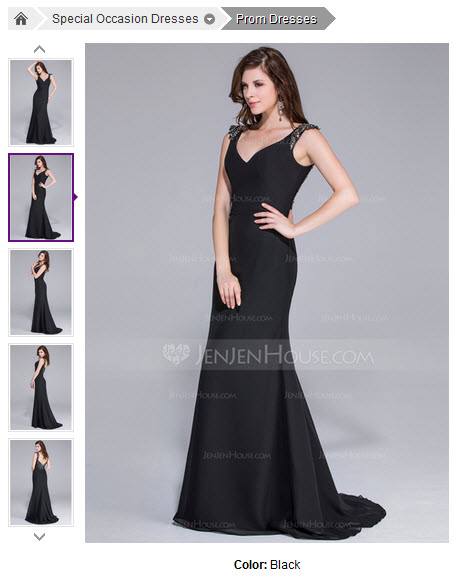 Mermaid V-neck Sweep Train Chiffon Prom Dress With Beading #018025511
