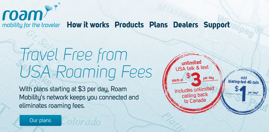 Travel Free From USA Roaming Fees