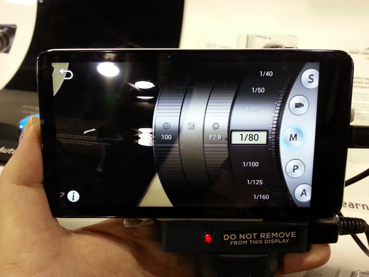 Samsung Galaxy Camera - Go PRO mode and choose your aperture, shutter and ISO settings like you would on a DSLR.